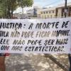 Estudantes fazem protesto em frente ao Fórum para pedir justiça pela morte de Atila Pereira Vieira