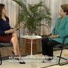 Dilma fala em 'dialogar', mas se incomoda com perguntas em entrevista ao vivo