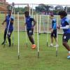 Rojões são disparados no Fazendão e assustam jogadores do Bahia durante treino