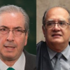 Cunha discute impeachment de Dilma com ministro do STF