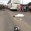 Após tentar fugir da PM motociclista bate em ônibus e tem a cabeça esmagada na BR 101