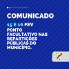 Carnaval: Prefeitura decreta ponto facultativo nas repartições públicas nos dias 15 e 16/02