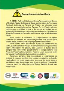 folder comunicado adab